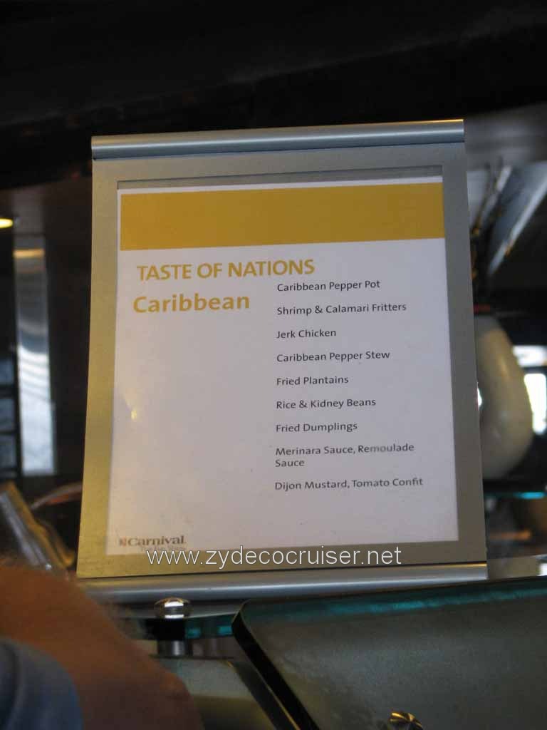 003: Carnival Cruise Lido Lunch, Taste of Nations, Caribbean Menu