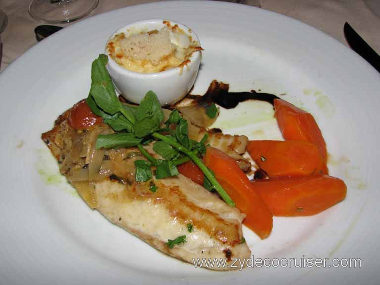 Pan Seared Filet of Tilapia, Carnival Fantasy