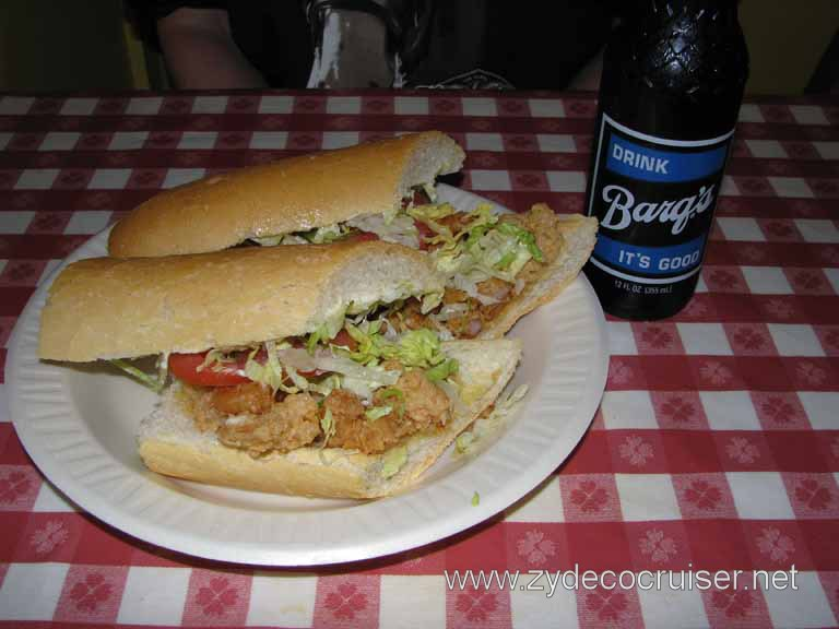 021: Johnny's Pobys, New Orleans, LA - Shrimp poboy and a Barq's rootbeer