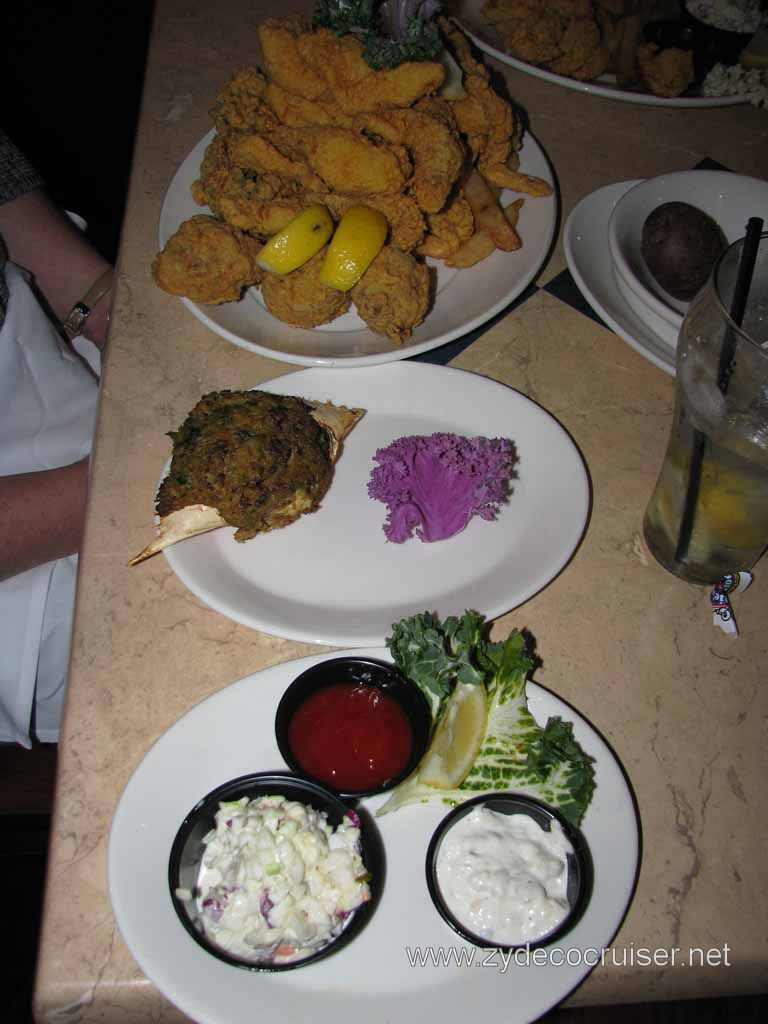 006: Deanie's, New Orleans, French Quarter, 1/2 Seafood Platter with stuffed crab instead of softshell crab