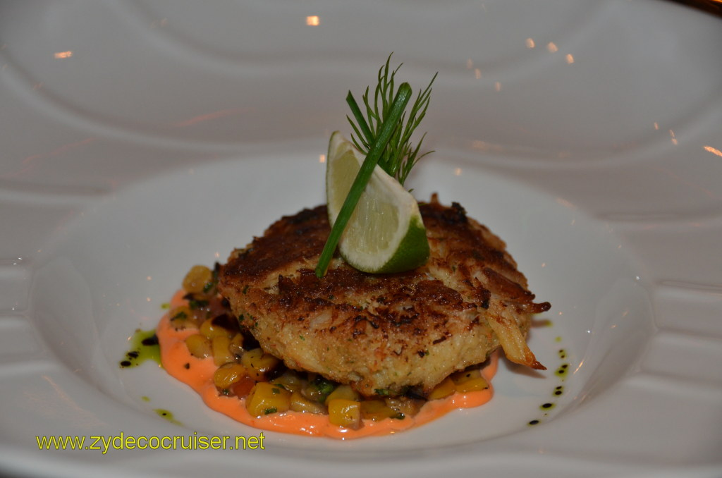 Carnival Magic, Prime Steakhouse, New England Crabcake