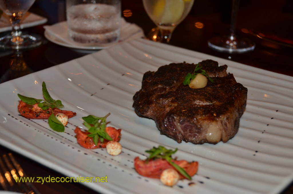 Carnival Magic, Prime Steakhouse, Spice-Rubbed Prime Ribeye Steak