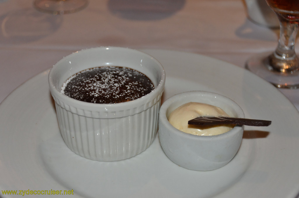 Carnival Conquest, Cozumel, MDR Dinner, Warm Chocolate Melting Cake,