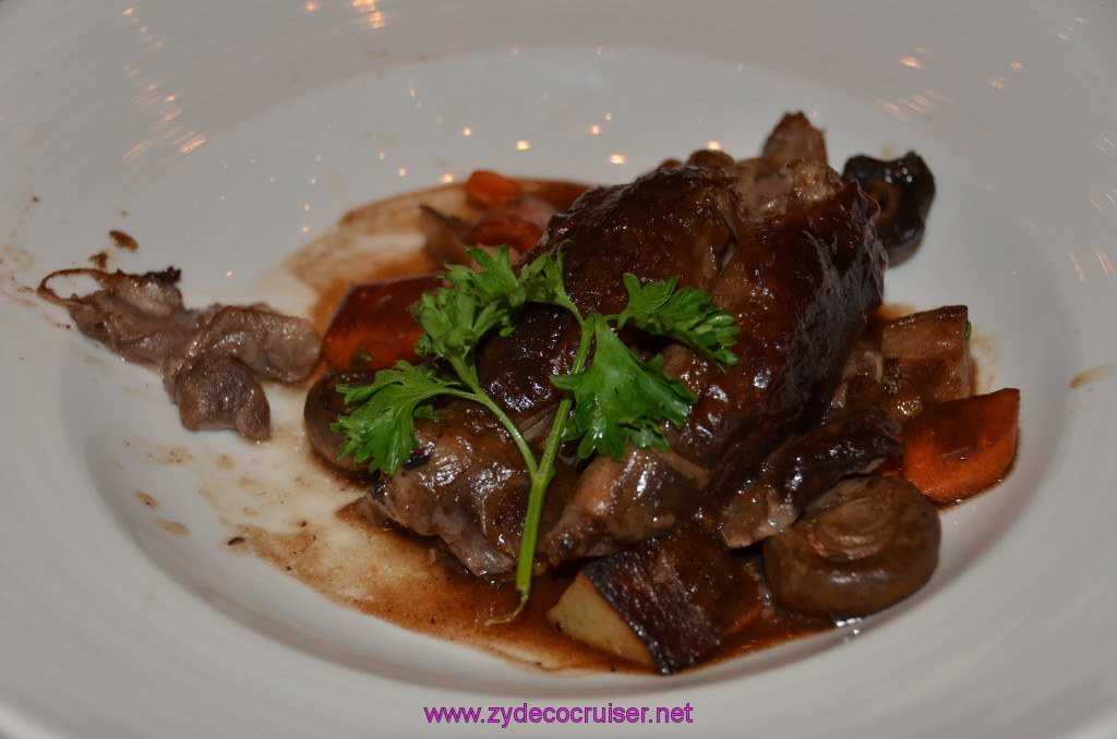Braised Lamb Shank in a Burgundy Sauce,