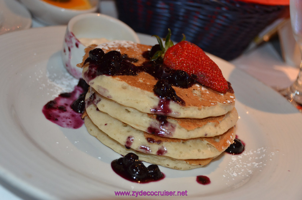 025: Carnival Cruise Seaday Brunch, Blueberry Pancakes