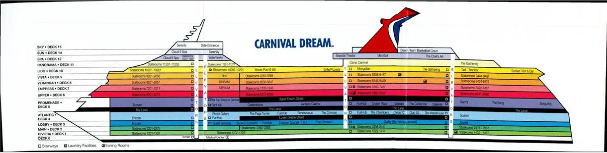 Carnival Dream Deck Plan A
