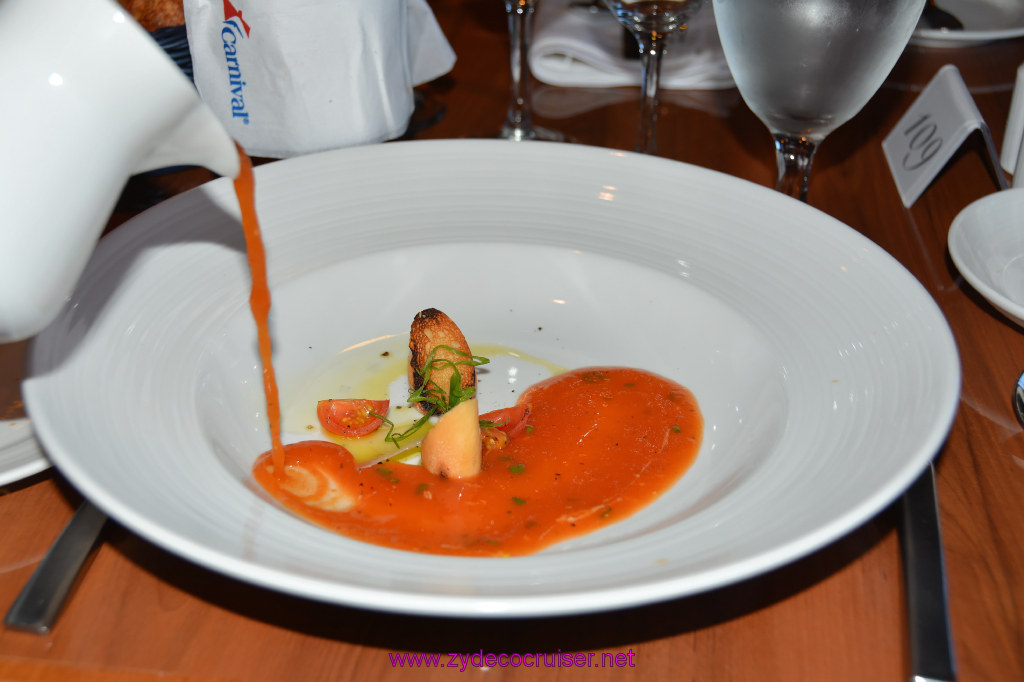 008: Carnival Cruise Seaday Brunch, Flamin' Tomatoes Soup
