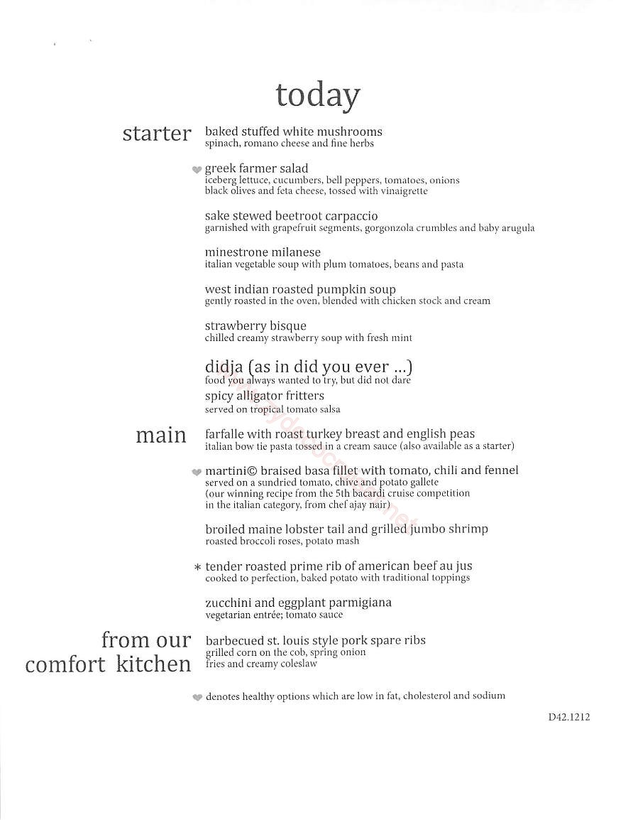 Day 2 Today Menu