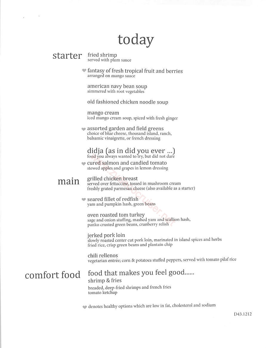 Day 3 Today Menu