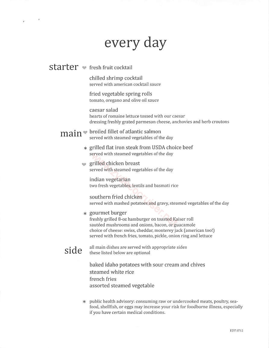 Day 1 Every Day Menu