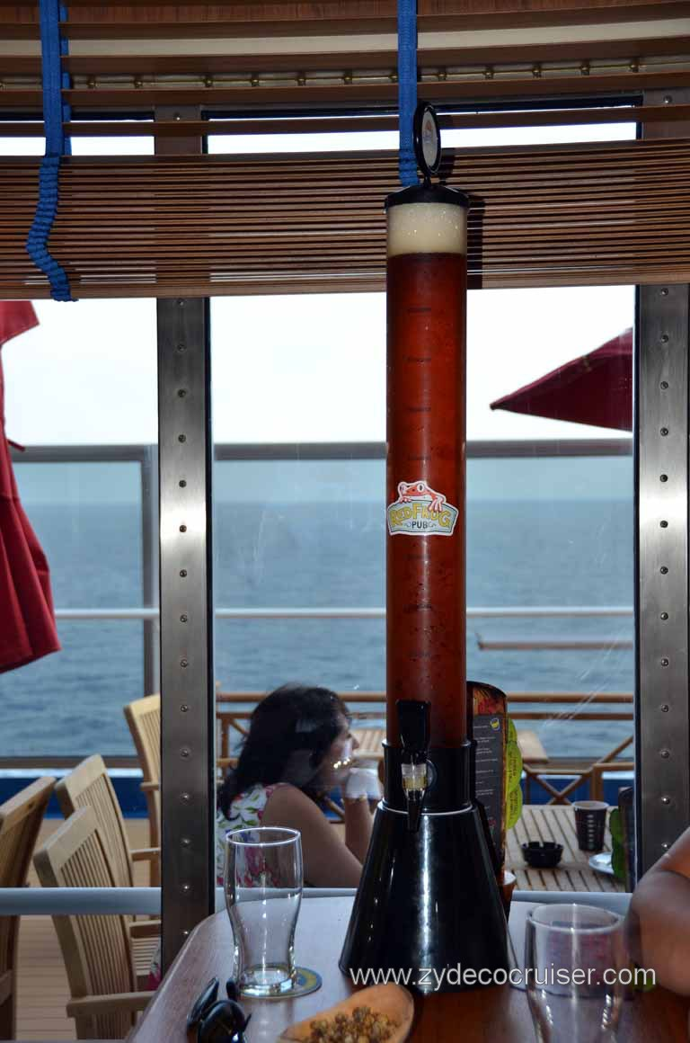 224: Carnival Magic Inaugural Voyage, Monte Carlo, Sea Day 3, Red Frog Pub, Beer Tube