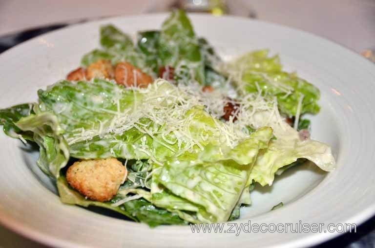 037: Carnival Magic, Main Dining Room Menus and Food Pictures, Dinner, Caesar Salad