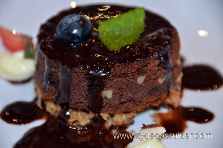 015: Carnival Magic, Main Dining Room Menus and Food Pictures, Lunch, Chocolate Brownie Melting Tart,
