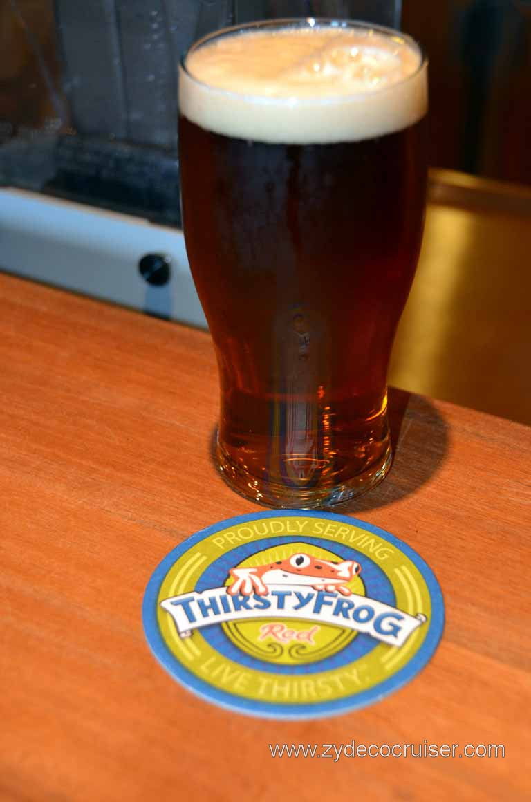 065: Carnival Magic, Mediterranean Cruise, Sea Day 3, RedFrog Pub, ThirstyFrog Red, Delish!