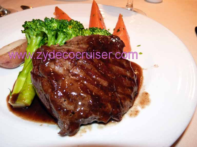 607: Carnival Spirit, Honolulu, Hawaii, Grilled Flat Iron Steak from American Choice Beef