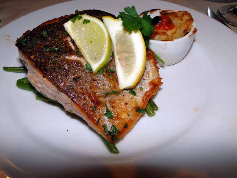 251: Carnival Spirit, Kahului, Maui, Day 2, Grilled Fillet of Norwegian Fjord Salmon