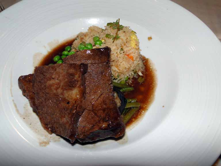 253: Carnival Spirit, Kahului, Maui, Day 2, Braised Style Short Ribs from Aged American Beef