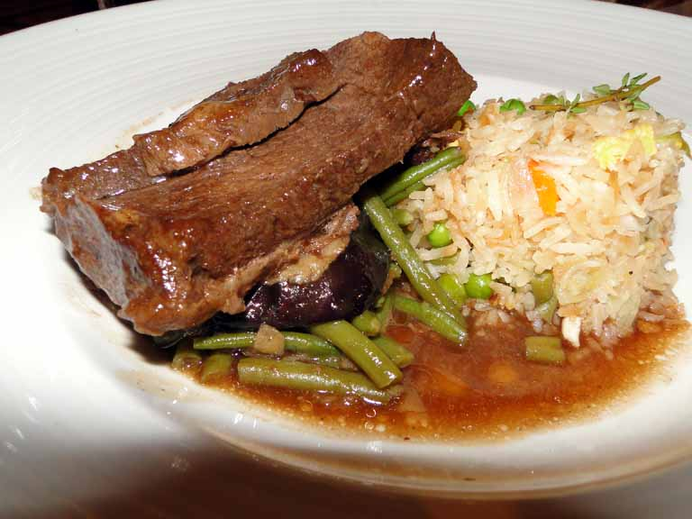 254: Carnival Spirit, Kahului, Maui, Day 2, Braised Style Short Ribs from Aged American Beef