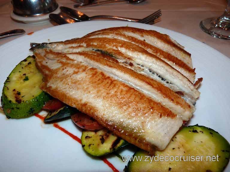 099: Carnival Spirit, Sea Day 3 - Pan-Fried Fillet of Idaho Rainbow Trout Almondine - Beautiful
