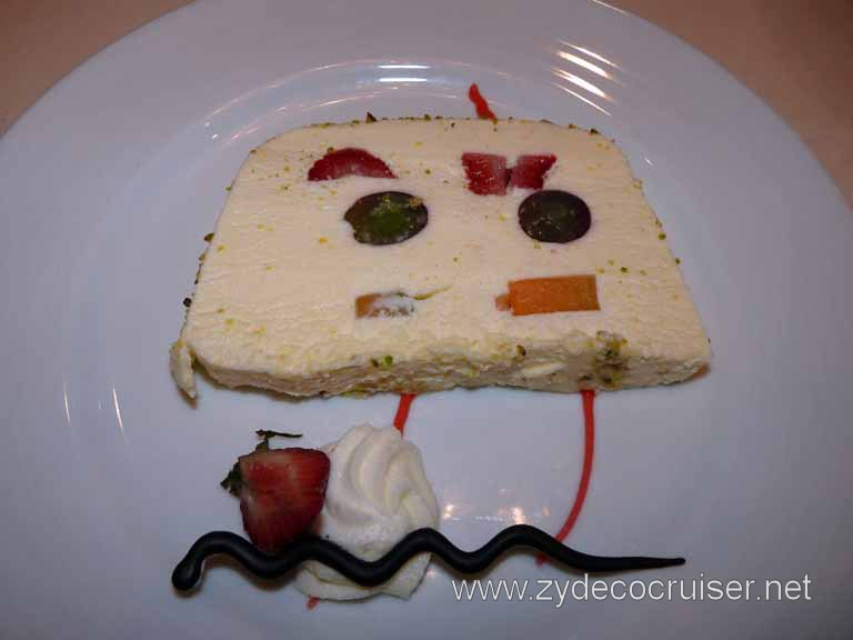 101: Carnival Spirit, Sea Day 3 - Tropical Fruit Terrine - different, but I liked it. Looks like a smiley face!
