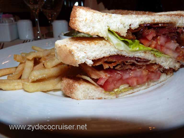 009: Carnival Spirit, Hawaii Cruise, Sea Day 5 - MDR Lunch - B-L-T sandwich - now that's a BLT!