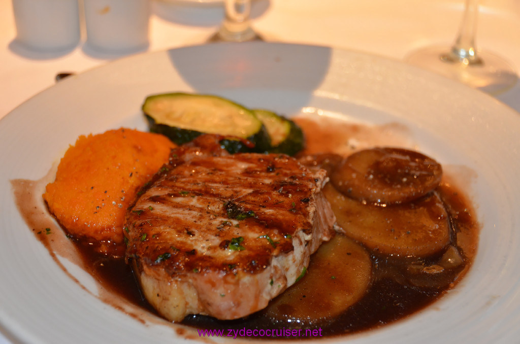 016: Carnival Sunshine, MDR Dinner, Grilled Marinated Pork Steak,