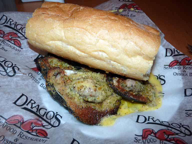 161: Drago's, New Orleans Hilton Riverside, Charbroiled Oysters and French Bread