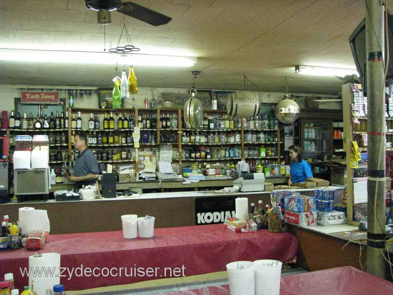010: Moon's Grocery and Deli, Homer, LA - You buy a bottle of booze, mixers, whatever, and serve yourself. No tables for two or candles!