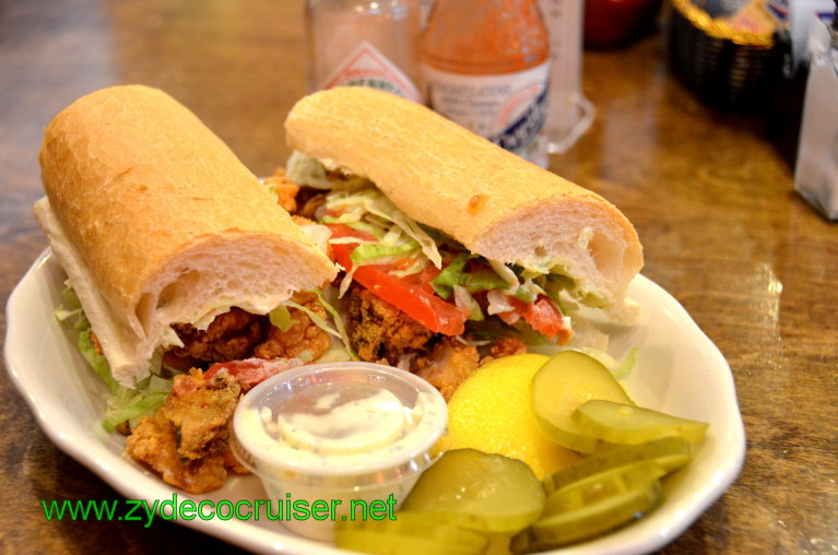 060: Baton Rouge Trip, March, 2011, New Orleans, Mandina's Restaurant, Half Shrimp Half Oyster Poboy
