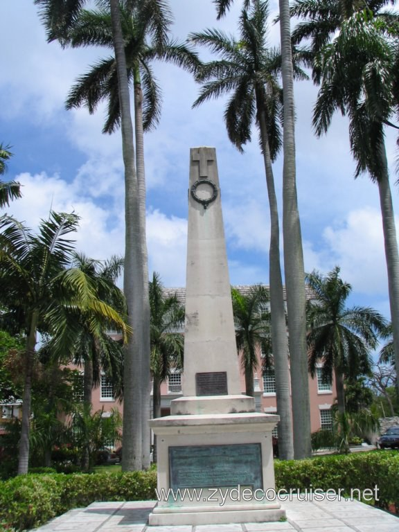 Cenotaph for WWI and WWII  Bahamian Veterans, Garden of Remembrance, Nassau, Bahamas