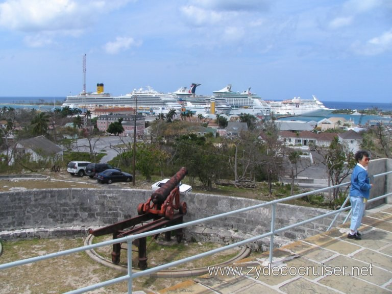 View from the top, Fort Fincastle, Nassau, Bahamas