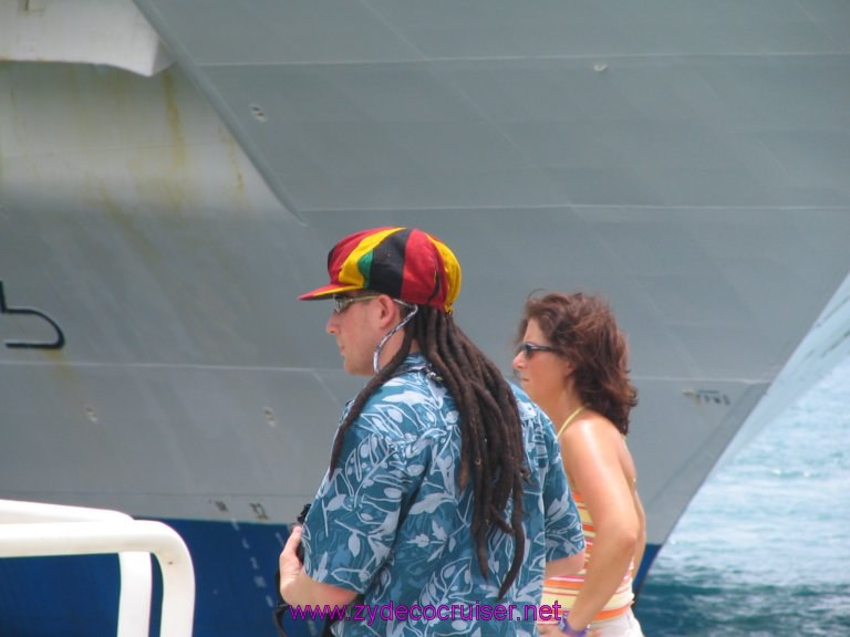 078: Carnival Liberty, Tortola, Back at the ship - one of these days I'm going to have to get one of those wigs...