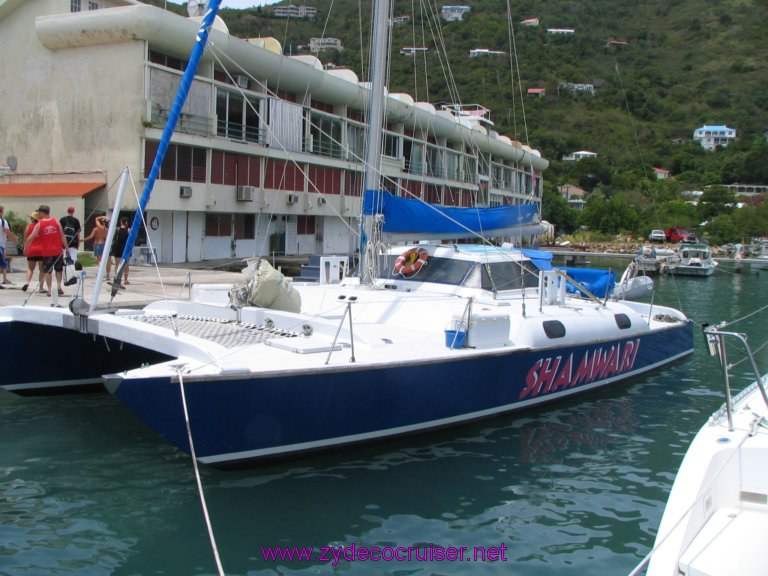 073: Carnival Liberty, Tortola, Patouche, Extreme Machine, The Baths, Virgin Gorda, Another one of the Patouche boats...