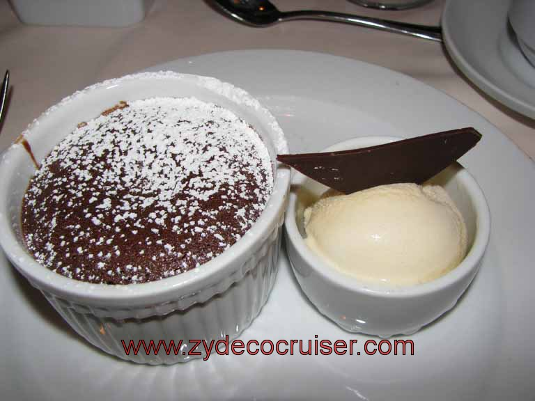 Carnival Warm Melting Chocolate Cake - Zydecocruiser