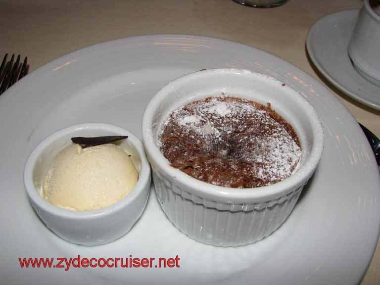 Carnival Warm Chocolate Melting Cake - Carnival Splendor SA