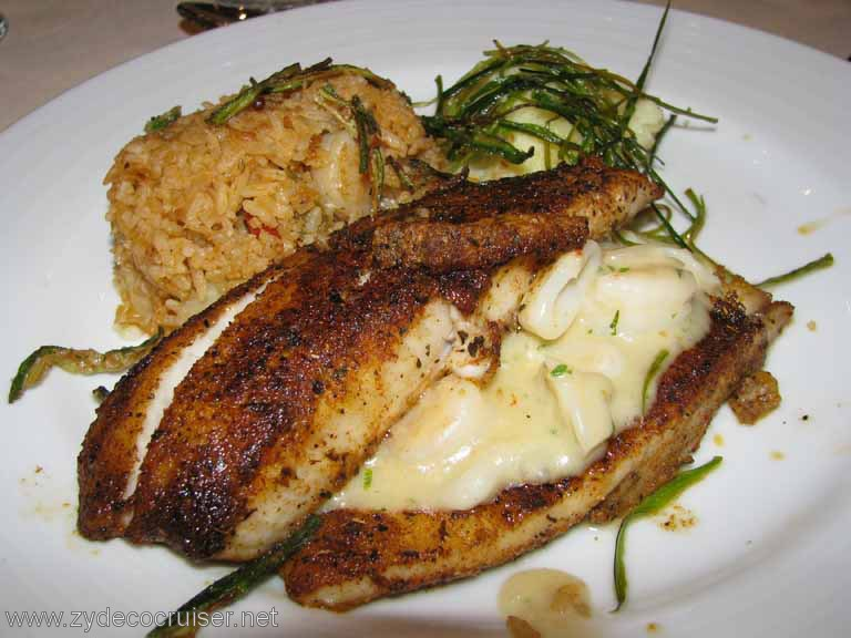 Blackened Fillet of Tilapia, Carnival Splendor