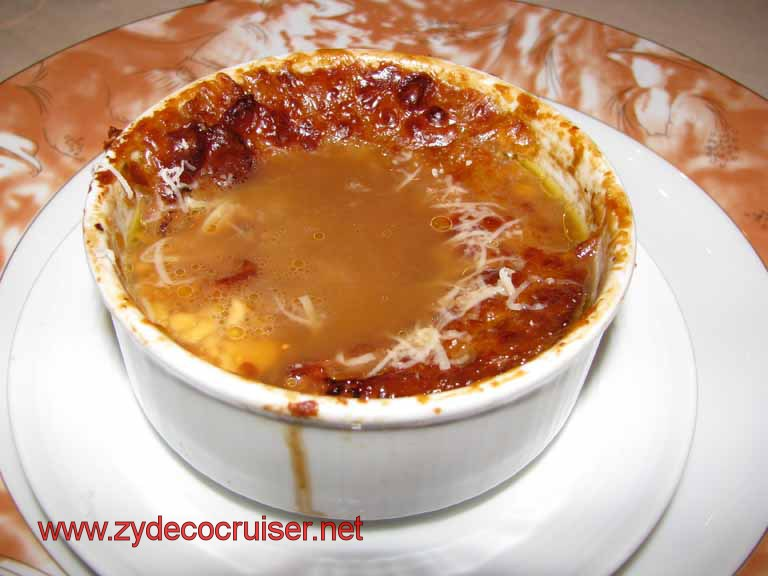 French Onion Soup, Carnival Splendor