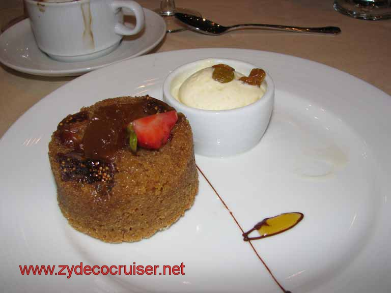 Warm Fig, Date, and Cinnamon Cake, Carnival Splendor