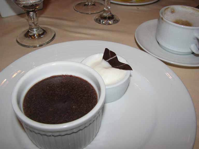 Warm Chocolate Melting Cake, Carnival Splendor