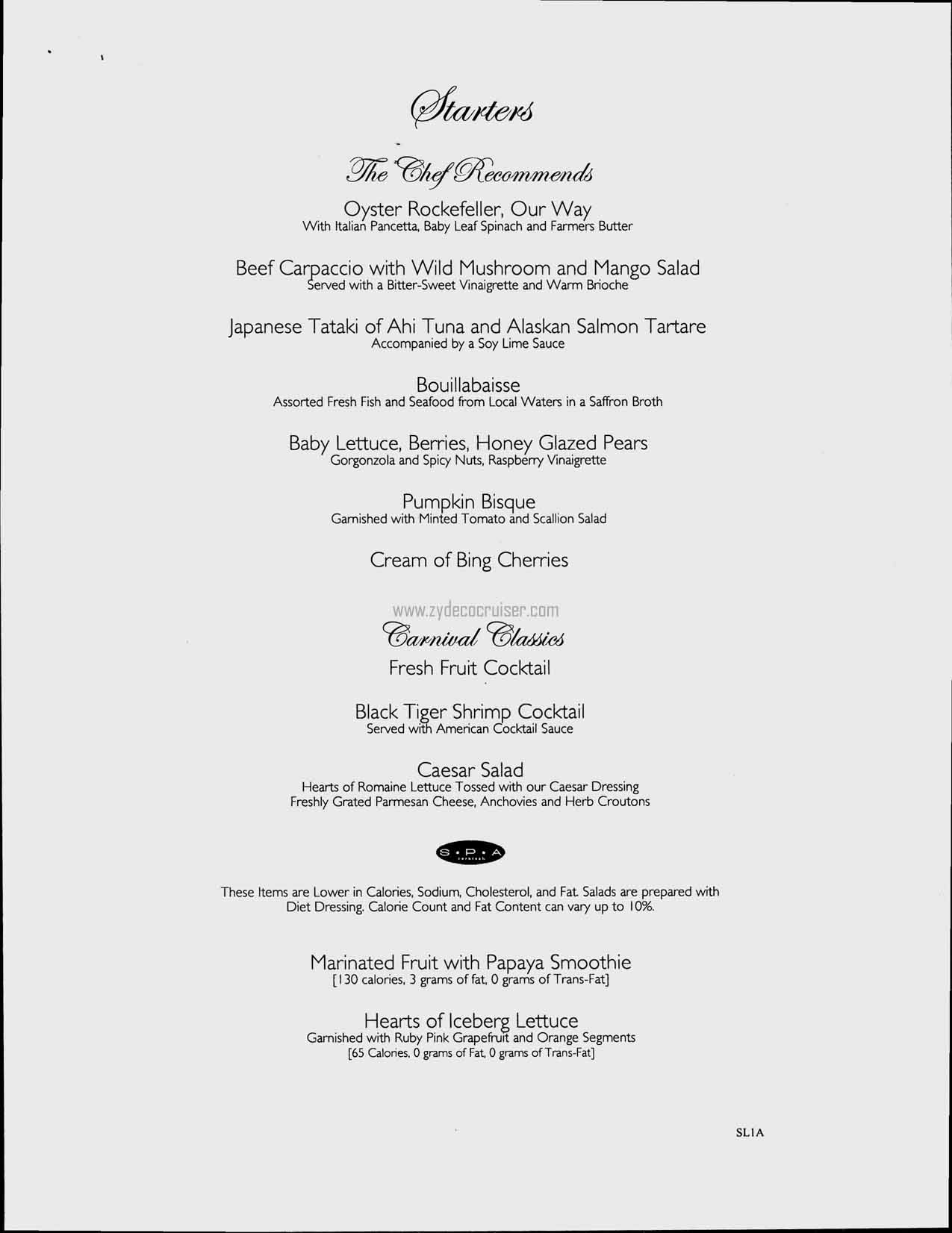 Carnival Splendor July 10 13, 2008, Dinner Menus  Formal Dinner Menu Template