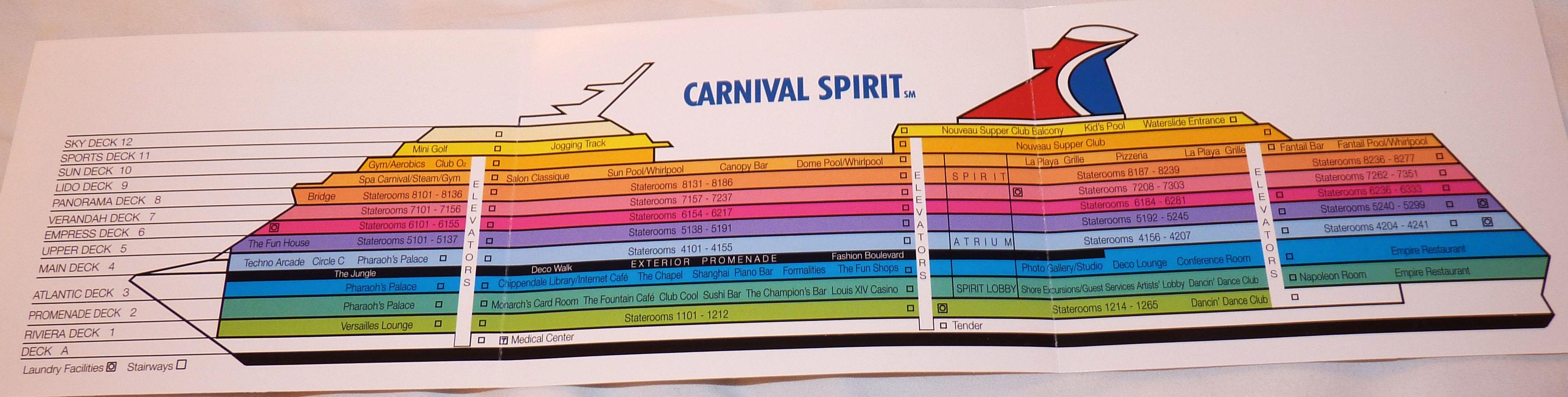 Carnival Splendor Deck Plans Pdf